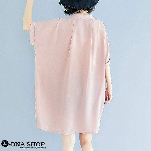 加大尺碼★F-DNA★溫柔雪紡短袖連衣裙洋裝(粉-大碼F)【EG22060】 3