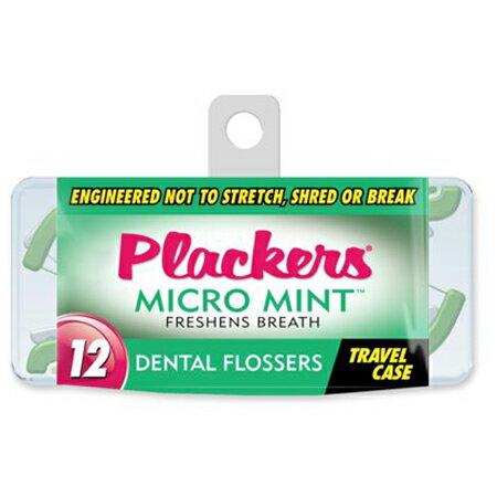 Plackers 美國普雷克 微薄荷牙線棒外出盒 12支入【瑞昌藥局】013287