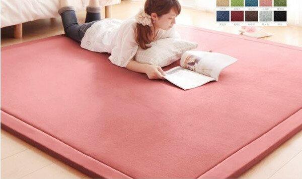 出口日本等級 日本原單 190*240 CM 高級纖細珊瑚絨地毯/ 爬行墊/ 遊戲墊/ 榻榻米墊/ 運動墊/ 瑜珈墊/ 地墊