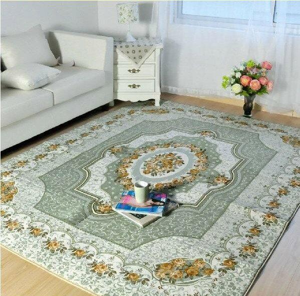 外銷日本等級 出口日本 185*185 CM 高級羊毛質感 高雅歐風 臥室/ 客廳地毯