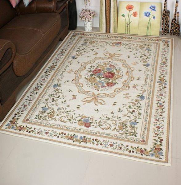 2014 款120^~180CM 歐洲宮廷貴族風 玫瑰庭園風格 尊貴氣派客廳地毯 ~  好