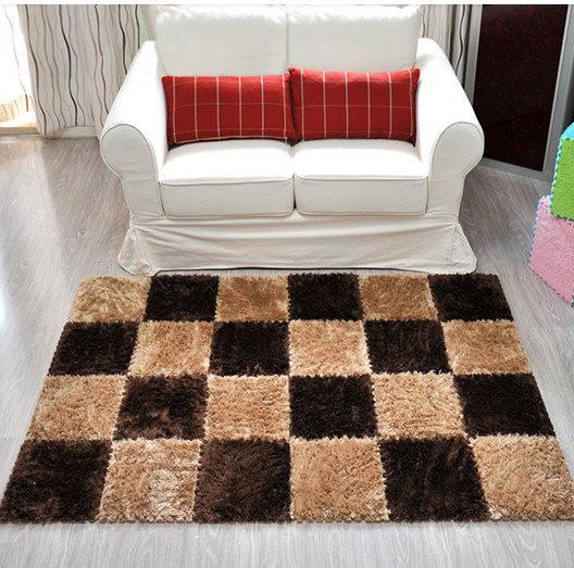 30*30CM 可裁剪摩登時尚超柔細絲長毛DIY創意拼接地毯/ 地墊/ 遊戲墊/ 爬行墊 (單片裝)