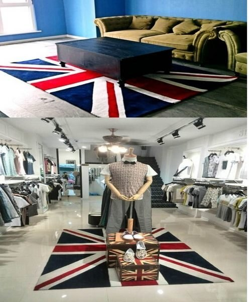 寰宇歐洲風 大不列顛日不落風格 英國國旗 50*80 CM 高級手工晴綸地毯/地墊 可訂做