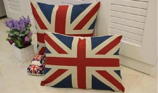 幸福家居商城:寰宇歐洲風大不列顛日不落風格英國國旗抱枕靠枕(枕套+枕芯)臥枕