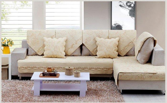 夏季唯美 推薦 70*150 CM 高級玫瑰繡花三人座沙發墊/ 坐墊/ 椅墊