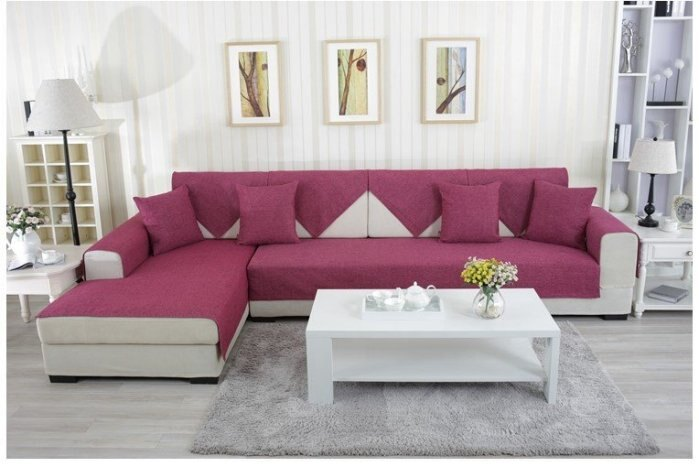 2015 夏季簡約風 超值推薦 60*150 CM 高級棉麻三人座沙發墊/ 坐墊/ 椅墊