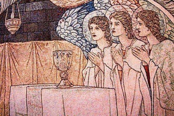 幸福家居商城:出口歐洲歐洲原單宗教風格83*120CM天使的祈禱客廳掛毯壁畫掛毯壁毯