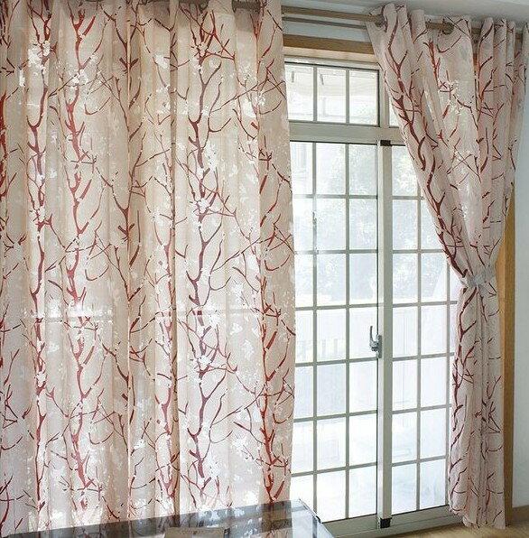 高貴不貴 簡約設計風 清新素雅 輕鬆好搭 紅色珊瑚 140*240CM 窗簾/ 窗紗