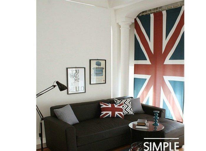 寰宇歐洲風 大不列顛日不落風格 英國國旗 140*230 CM 個性特色窗簾