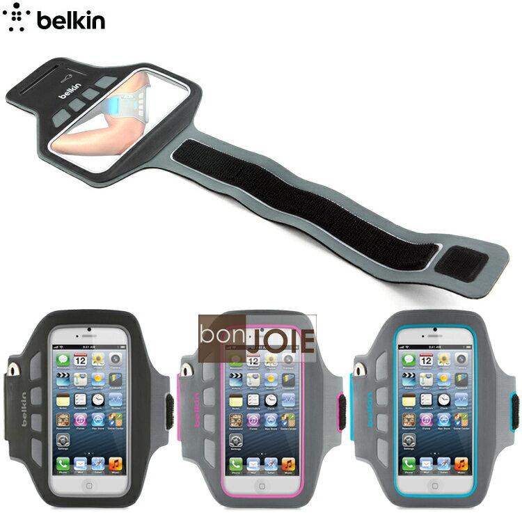 ::bonJOIE:: 美國貝爾金 Belkin EaseFit Plus 運動臂套 臂帶 (全新盒裝) For iPhone 5 , 5S ,5c 彈性手臂套 手機袋