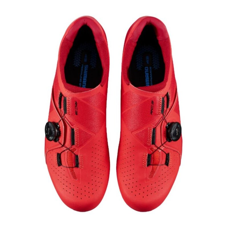 【7號公園自行車】SHIMANO RC3 男性基本款公路車卡鞋(紅)