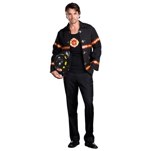 Smokin' Hot Fire Department Man Adult Halloween Costume 0