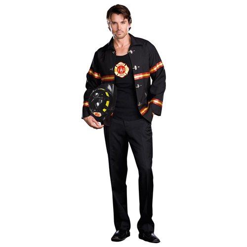 Smokin' Hot Fire Department Man Adult Halloween Costume 0