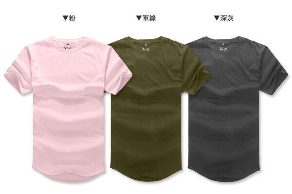 ☆BOY-2☆【PPK82112】韓版素面下擺圓弧短T 3