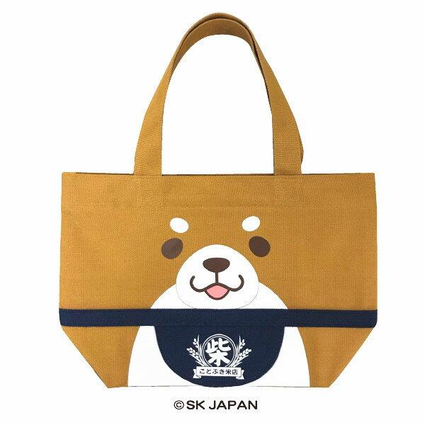 日本Mochishiba肩背帆布托特包購物袋(赤柴)