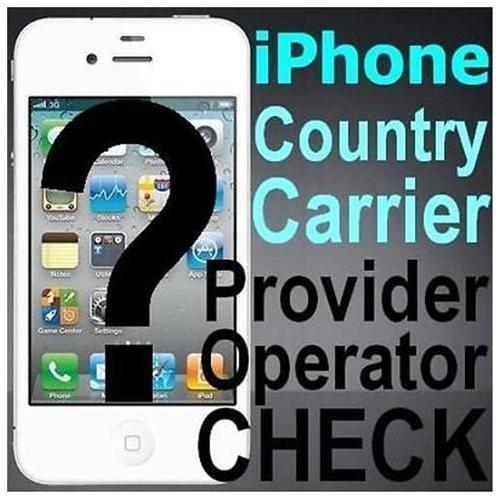 IPHONE STATUS CHECK (carrier, lock/unlock factory service) + UNLOCK PRICE