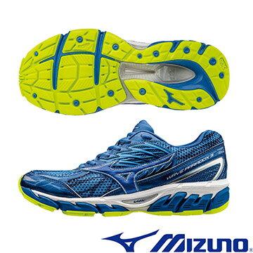 J1GC161227(藍X藍)扁平足專用鞋款 WAVE PARADOX 2 男慢跑鞋 A【美津濃MIZUNO】