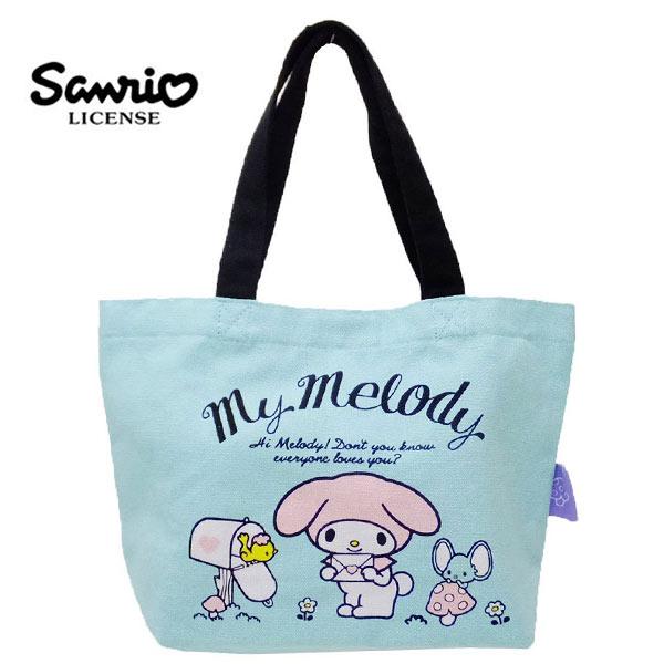 【日本正版】美樂蒂 帆布 手提袋 便當袋 My Melody 三麗鷗 Sanrio - 442996