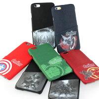 漫威英雄Marvel 周邊商品推薦MARVEL iPhone 6 復仇者聯盟 高質感皮革插卡背蓋保護殼