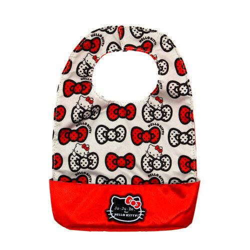 【Ju-Ju-Be】Be Neat圍兜口水巾-Hello Kitty聯名款-Peek a Bow 經典蝴蝶結