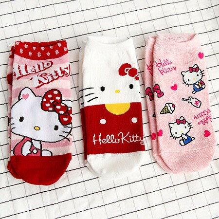 襪子 韓國HELLO KITTY短襪 [NRS2] 柒彩年代