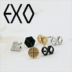 ☆ New Style ☆ 韓國進口  EXO字母標誌耳釘耳環 (一對)