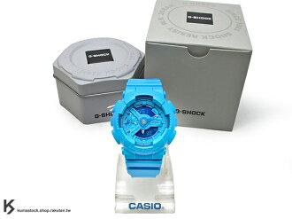 [10%OFF] kumastock 2016 最新 46mm 錶徑 貼合女性手腕曲線 CASIO G-SHOCK GMA-S110VC-2ADR BRIGHT VIVID COLOR 亮藍 S SE..