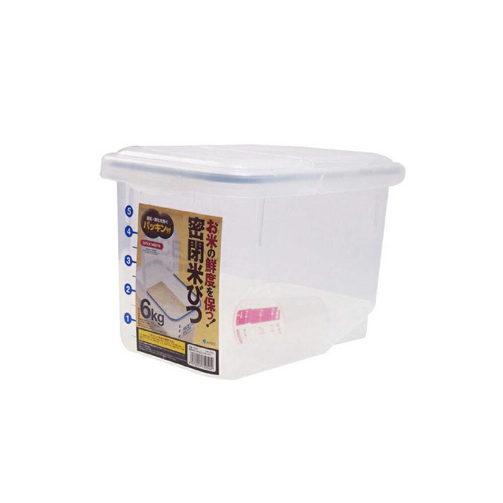 日本ASVEL密封保鮮米箱-6kg / 廚房用品 米桶米壺 保鮮防潮 密封盒