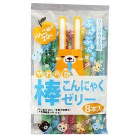 有樂町進口食品 緯來日本台介紹 日本進口 蒟蒻果凍棒 168g J38 4902871050664 - 限時優惠好康折扣