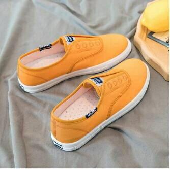 平底鞋 帆布小白鞋2020新款女鞋百搭夏季薄款透氣學生韓版懶人休閒 清涼一夏钜惠