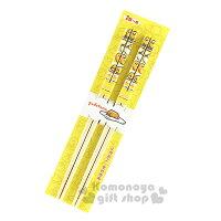 〔小禮堂〕蛋黃哥 天然竹筷子《2雙.黃白條紋.多動作》筷長22.5公分