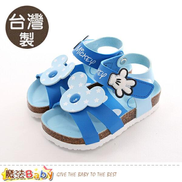 童鞋台灣製迪士尼米奇正版兒童涼鞋魔法Baby~sk0412