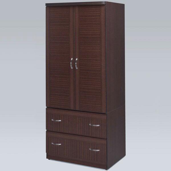 優世代居家生活館:衣櫃衣櫥收納櫃衣物收納櫥櫃置物櫃套房出租《Yostyle》班克2.7x6尺衣櫃(胡桃色)
