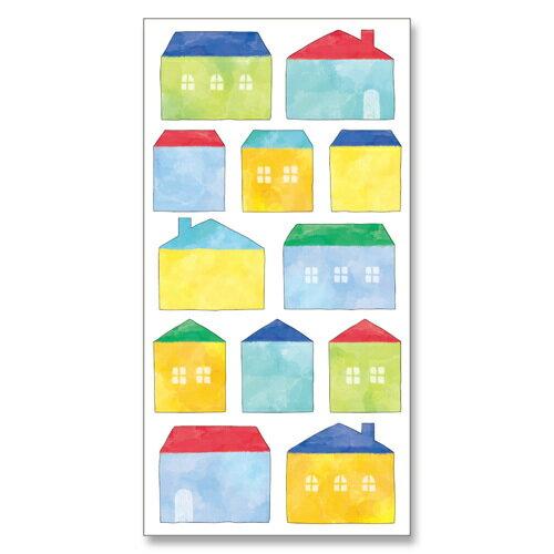 *小徑文化*日本進口 MIND WAVE 和紙貼紙 水彩系列 - 房子 ( 77625 )