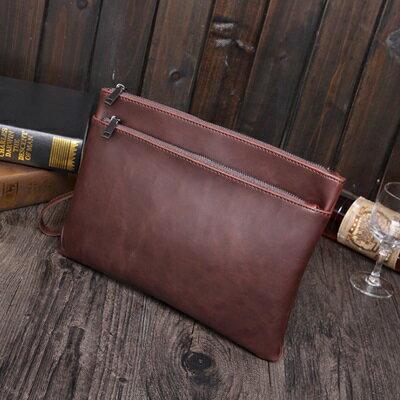 手拿包純色信封包-歐美復古紳士商務男包包73sd49【獨家進口】【米蘭精品】 0