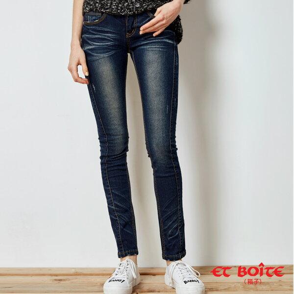 【限時5折】激瘦3D修身剪裁繩股窄直筒褲(3色)-BLUEWAYETBOiTE箱子