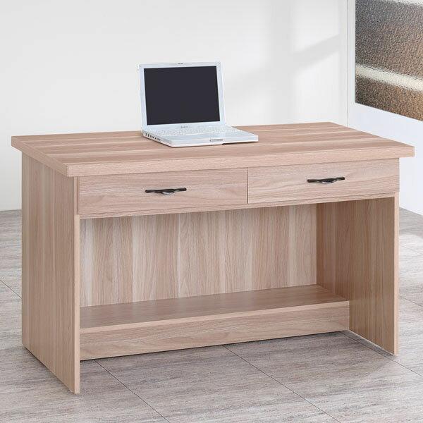 電腦桌 書桌 工作桌 辦公桌 學生書桌《YoStyle》雪琪4尺二抽書桌-原木色