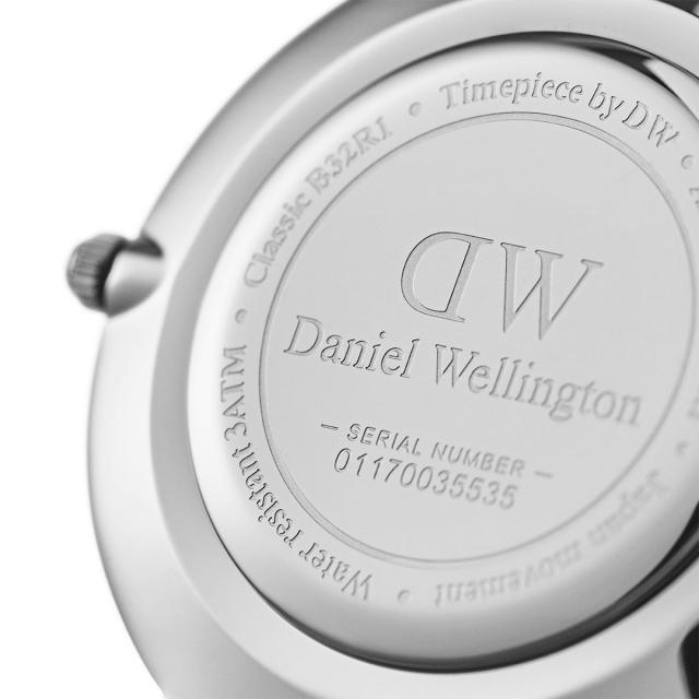 DW Daniel Wellington 丹尼爾惠靈頓 Classic Black Petite Sterling 米蘭風格時尚腕錶 DW00100162 銀 黑 32mm 1