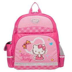【真愛日本】15091800002輕量護脊後背包-紅寶石直條  三麗鷗 Hello Kitty 凱蒂貓   背包  書包  護脊  正品