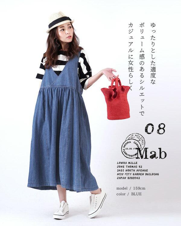 日本e-zakka / 長版無袖牛仔連衣裙 / 32593-1801251 / 日本必買 代購 / 日本樂天直送(5900) 2
