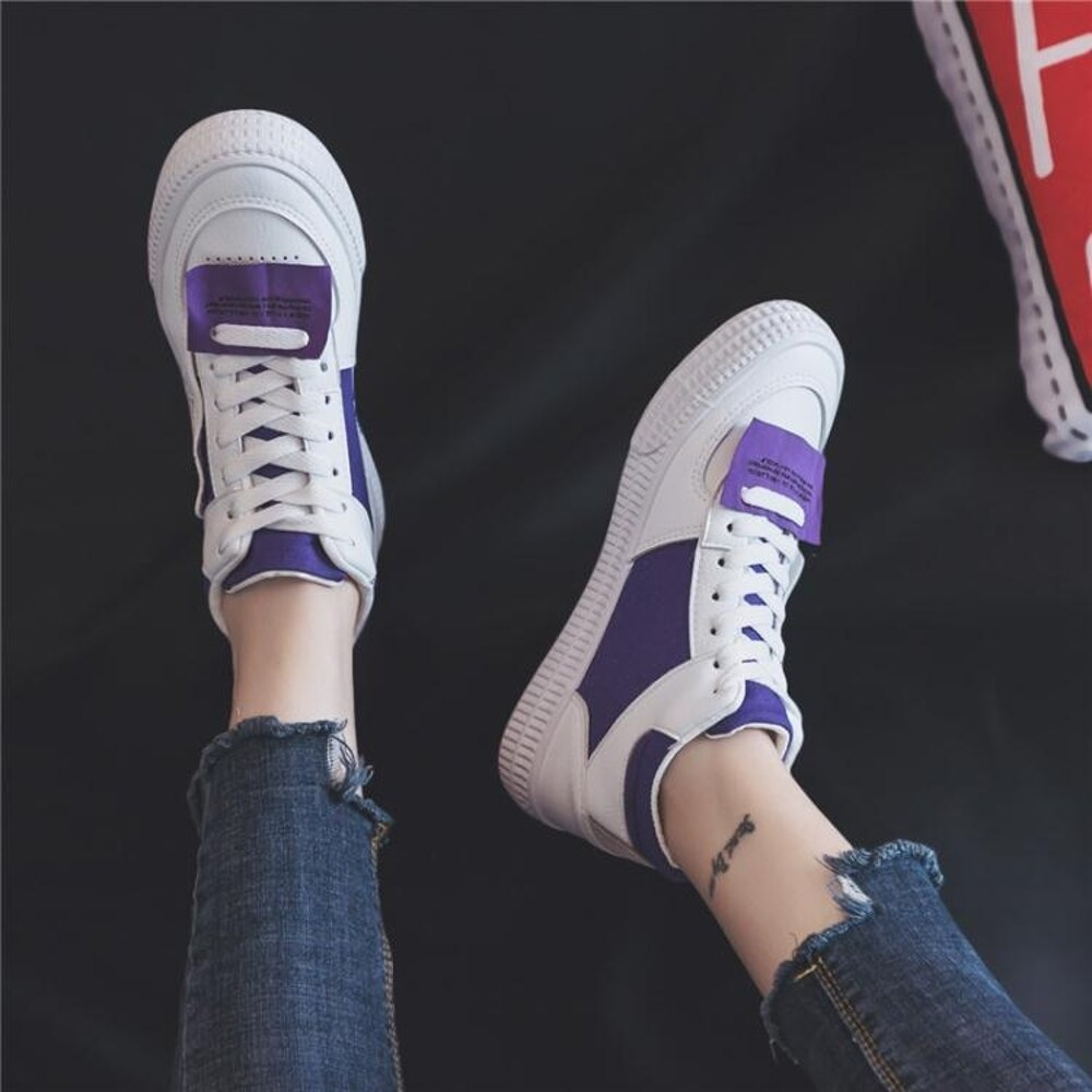 嘻哈高筒帆布鞋女潮學生韓版原宿風ulzzang百搭運動 沸點奇跡 雙12購物節
