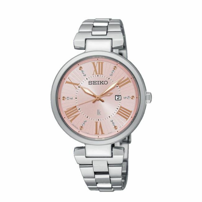Seiko Lukia V137-0CW0P(SUT331J1)粉麗動人時尚太陽能腕錶/約33mm