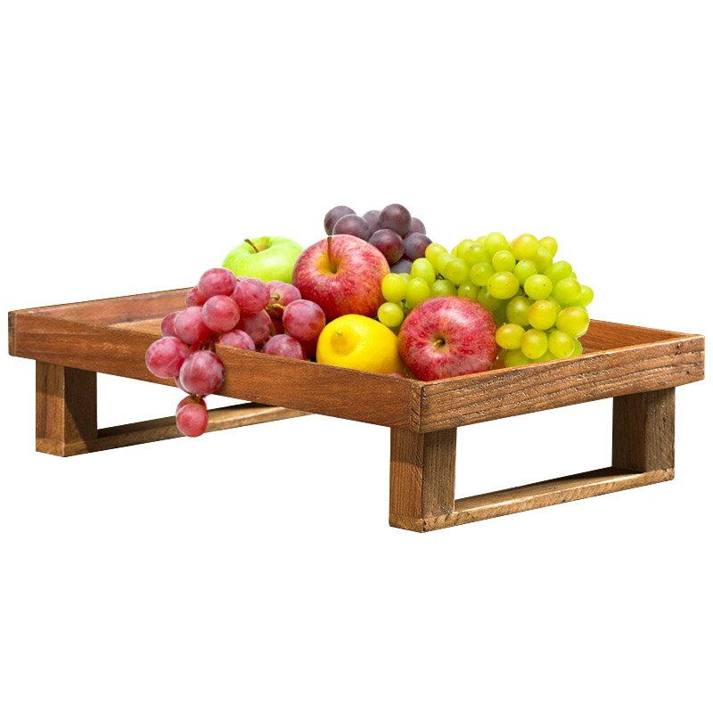異麗泰國柚木果盤東南亞創意實木果盤客廳茶幾木質復古水果盤