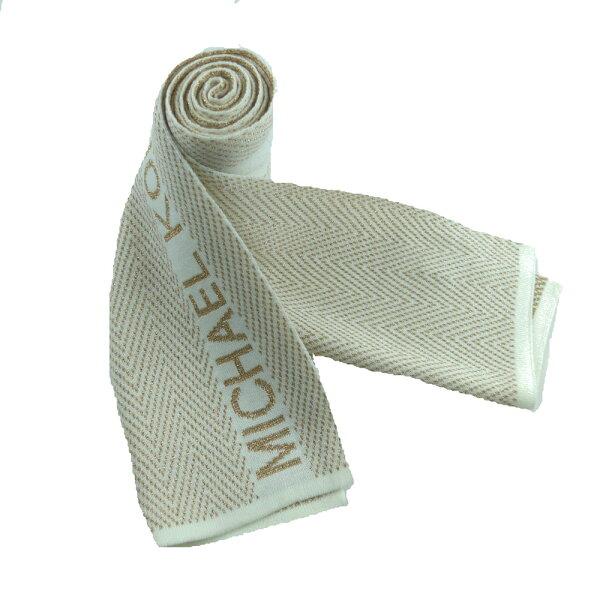 MICHAELKORS米金蔥文字品牌圍巾