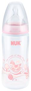 『121婦嬰用品館』NUK  Rose&Blue  寬口徑PP奶瓶 300ml - 粉(1號中圓洞) 0