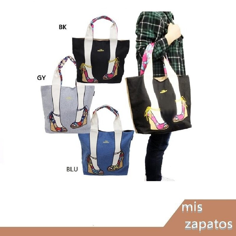日本 mis zapatos 雙色 高跟涼鞋款 肩背包 手提包 美腿包 腳腳包 (L)【RH shop】日本代購