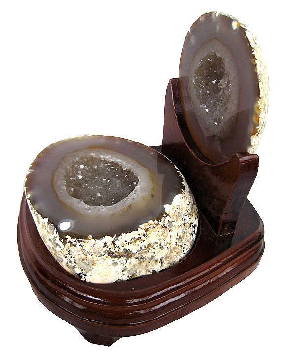 大顆粒白水晶聚寶盆擺件2.15kg瑪瑙聚寶盆水晶洞