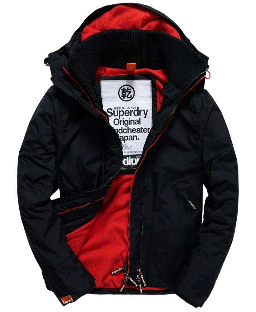 [男款] 英國代購 極度乾燥 Superdry Arctic 男士風衣戶外休閒 外套夾克 防水 防風 保暖 黑色/紅色 0