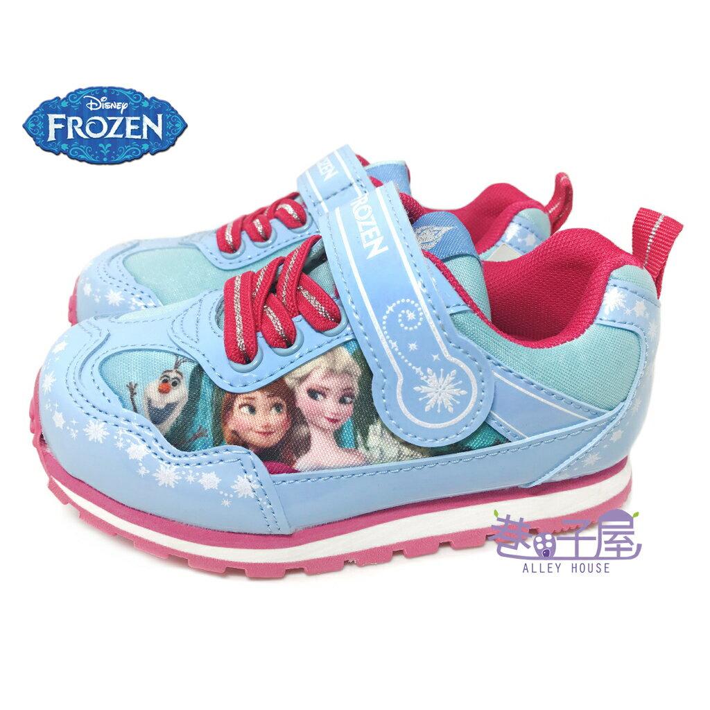 ~零碼 ~17/18號~DISNEY迪士尼 冰雪奇緣女童復古 慢跑鞋  54806  藍