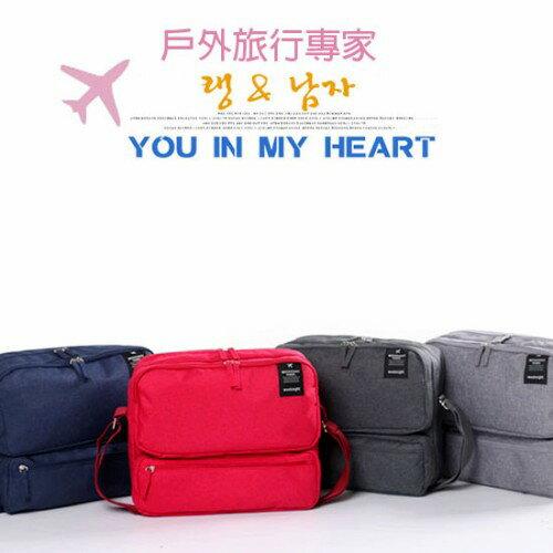 wei-ni 大容量WeekEight單肩ipad包 (紅/藍/灰) 獨立隔層 便捷使用 大容量使用空間